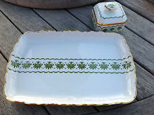 VTG GERMAN BAVARIA RW RUDOLF WACHTER PORCELAIN vanity tray and lidded box