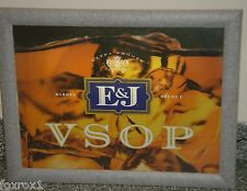 E&J VSOP Brandy Wood Framed Barware Heritage Display Sign Light Switch On Off