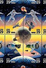 1992- SPACE ACCOMPLISHMENTS - #2631-4 Full Mint -MNH- Sheet of 50 Postage Stamps