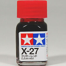TAMIYA COLOR ENAMEL X-27 Clear Red MODEL KIT PAINT 10ml NEW