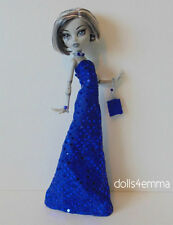 Monster High Custom Doll Clothes blue GOWN + PURSE + JEWELRY Fashion NO DOLL d4e