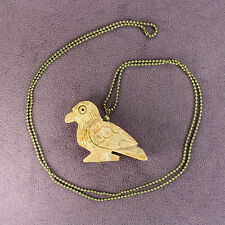 3D EAGLE FETISH NECKLACE Soapstone Bird Hawk Animal Totem Talisman Charm Amulet