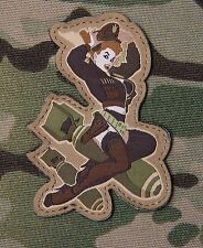 PIN UP DEATH FROM ABOVE BOMB VELCRO BADGE COMBAT TACTICAL MILITARY MORALE PATCH