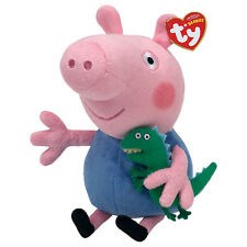 "George Beanie Plush Soft Toy, Peppa Pig 7"" (18cm)"