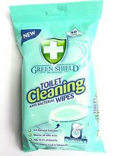 TOILET CLEANING ANTI-BACTERIAL WIPES(40) GENTLE CLEAN TISSUE KILL GERMS QUICKLY