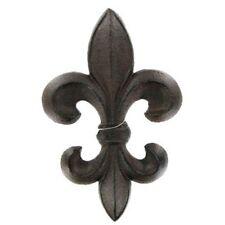 Dark Brown Cast Iron Fleur-De-Lis Décor French Saints