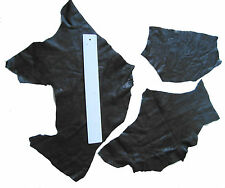 BLACK LEATHER REMNANTS-  #2515 - ELBOW PATCHES, LARP, CRAFTS