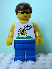 LEGO Minifig div004 @@ Divers - Boatie 1, Brown Male Hair 6559