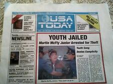USA Today 10/22/15 Back to the Future Cover Section Only- NOT Complete Issue