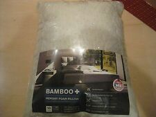 Queen Bed Pillow Memory Foam Bamboo NEW and Vacuum Sealed