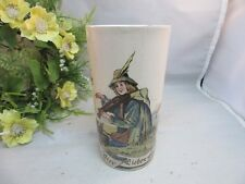 Vtg Villory & Boch pottery beer drinking cup.Man with fiddle. Germany