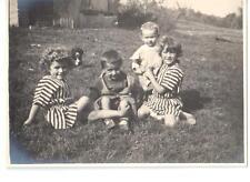 Foto Bimbi che giocano in campagna 1924 CB572