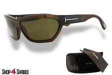Tom Ford Sasha Unisex Oversize Sunglasses POLISHED BROWN_BROWN FT0401 48E