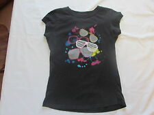 Girl's black top sz M by Vanity