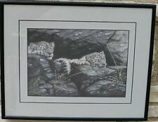 LINDSEY FOGGETT SNOW TIGERS LEOPARDS LIMITED EDITION PRINT 51/650
