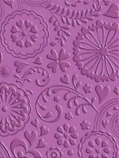 Cricut Cuttlebug Embossing Folder Scrapbook Card Floral Fantasy Sympathy Amish