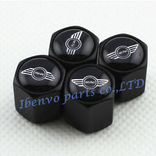 Black Styling Car Wheel Tyre Tire Stem Air Valve Cap For MINI Cooper Vehicles