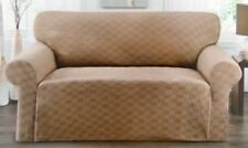 "ON SALE !!  ""STRETCH""  SLIPCOVER FOR COUCH SOFA----BROWN----COMES IN ALL SIZES"