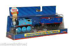 BATTERY BOOSTER STEAM CAR with THOMAS Tank Engine Wooden Railway NEW IN BOX Jet