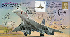 Superb CONCORDE FDC MULTI signed Chief Pilots x11 - VERY RARE