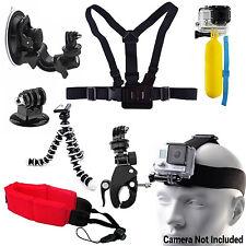 New Head Chest Mount Pole Pro Bundle Set Combo Kit Accessories GoPro 1 2 3 4 Cam