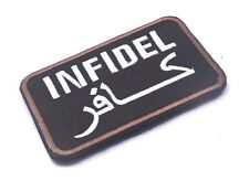 INFIDEL TACTICAL PATCH U.S. ARMY USA MORALE BADGE EMBROIDERY HOOK & LOOP PATCHES