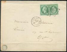 FRANKREICH 1853 11b Kehrduckartig geklebt auf BRIEF(E7201b