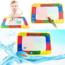 Water Drawing Painting Writing Mat Board & Magic Pens Doodle Mat Games Toys TOP