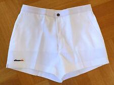 NEW Auth 1980s Vtg ELLESSE Men's White Tennis Shorts Size 36 RARE Excellent