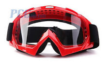 RED DIRT BIKE ATV MOTORCYCLE GOGGLE MOTOCROSS M GOGGLES-RED