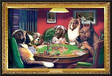 Coolidge Dogs Playing Poker 24x36 Wood Framed Poster Art Photo