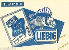 Buvard ancien LIEBIG n° 8 soupe de poissons 4 personnes pub publicité rascasse