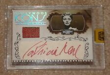 2008 DONRUSS CELEBRITY CUTS PATRICIA NEAL AUTOGRAPH SWATCH ICONS CARD 20/73