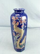 FV224 Japanese Flower Vase Vtg Ceramic Shippo Rooster Ikebana Kabin Yakimono