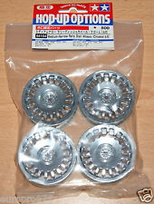 Tamiya 84154 Medium-Narrow Rally Dish Wheels (Chrome/±0) (TA06/TB03/TB04), NIP
