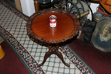 Antique Victorian Wood Pie Table-3 Leg-Intricate Lattice Work-Carved Legs-Lovely