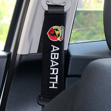 X2 Seat Belt Cover Pads for Fiat 500 Abarth - UK