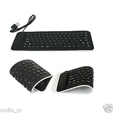 Flexible USB2.0 Mini Keyboard Silicone Foldable Laptop Notebook Keyboard Black