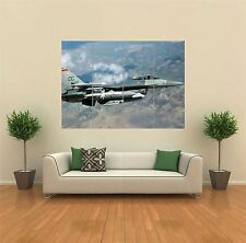F 16 FIGHTING FALCON AIRPLANE FIGHTER JET AIR FORCE GIANT POSTER ART PRINT G846