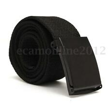 Black Men's Fashion Outdoor Sports Military Tactical Waistband Canvas Web Belt
