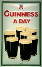 Guinness seven Pints Blechschild Schild Blech Metall Metal Tin Sign 20 x 30 cm