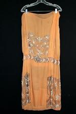VINTAGE 1920'S FLAPPER BEADED DRESS FOR STUDY OR APPLIQUE