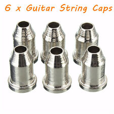 "6 x Chrome Guitar String Through Body Ferrule 1/4"" String Ferrules for Telecaste"