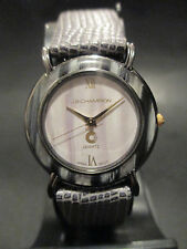 A12 NEW JB CHAMPION Ladies Dress Grey Leather Band WATCH VINTAGE Classy Quartz
