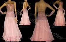Ballroom Smooth Dance Competition Dress With High Quality Rhinestone  ST45