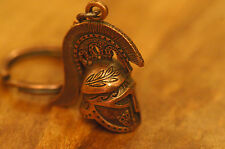 Ancient Greek Themed Keyring - Warrior's Helmet Snake Crest design Bronze Zamac