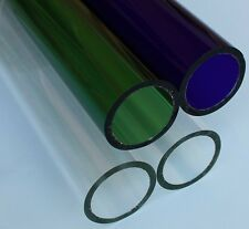 Borosilicate glass tubing, OD 51mm, Wall thickness 5mm, 4 pieces, Free Shipping