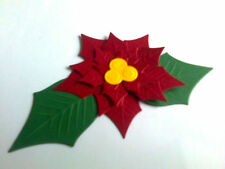 Poinsettia die cuts from spellbinders get ready for Christmas! 5 sets 4 you