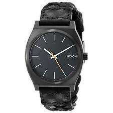 NWT Nixon The Time Teller Woven Watch Black Mens Womens aa254