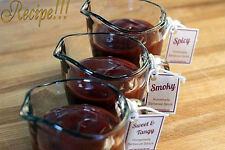 "☆3 BBQ Sauce ""RECIPES""!☆Sweet & Tangy/Spicy/Smoky☆& 14 Spice Dry Rub ""RECIPE""!☆"